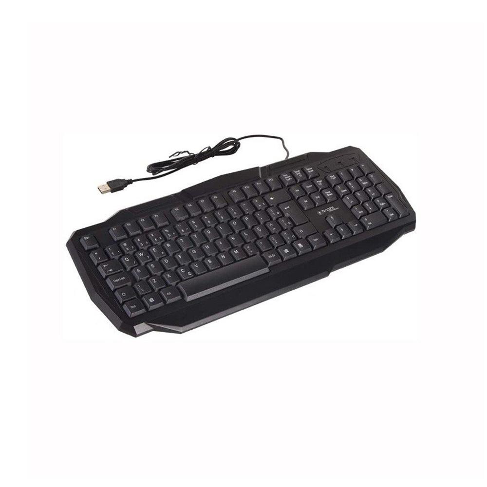 Teclado Gamer Luminoso USB C/Leds - Bright - 0464  - Districomp Distribuidora