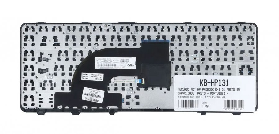 TECLADO NOTEBOOK HP 640 G1 PTBR KB-HP131  - Districomp Distribuidora