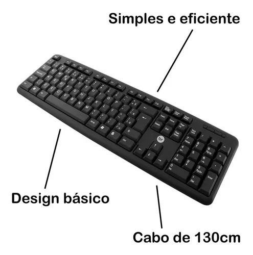 Teclado Standard Bright 0014 Preto Usb  - Districomp Distribuidora