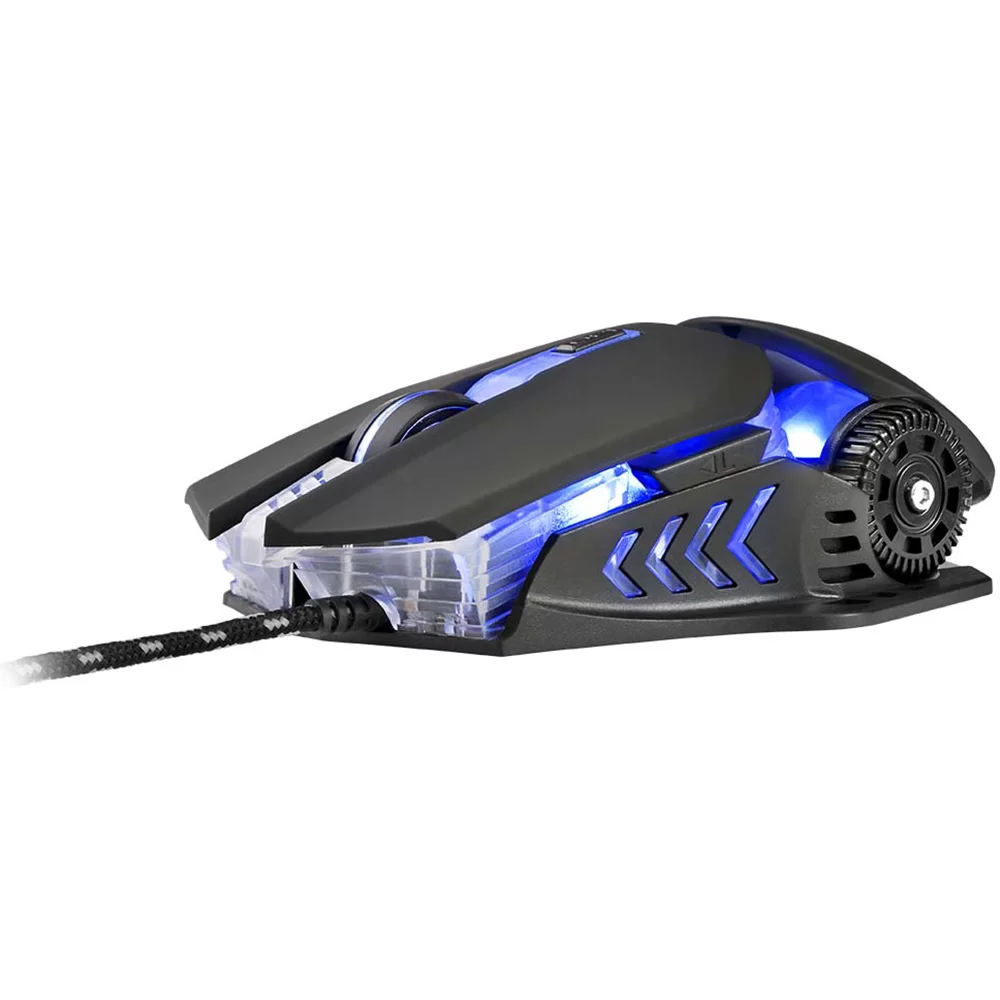 Warrior Keon Mouse Gamer 3200 Dpi Preto - MO267  - Districomp Distribuidora