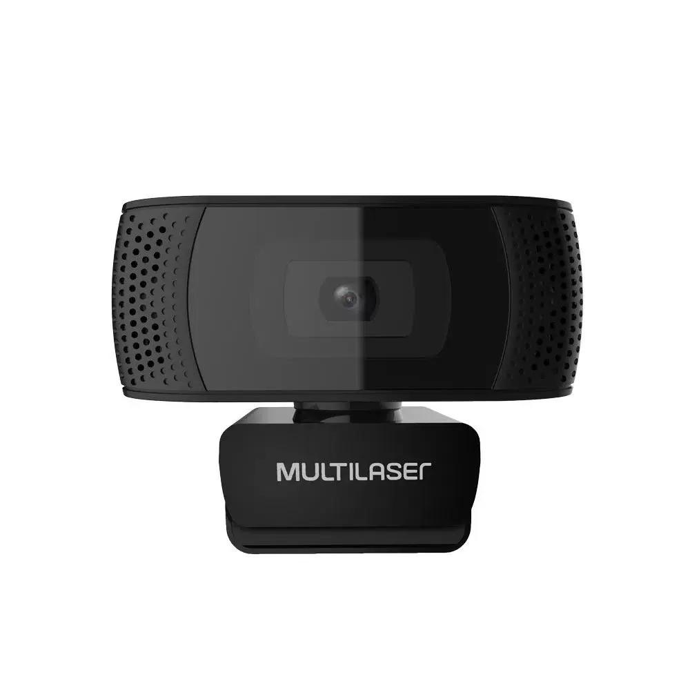 WEBCAM MULTILASER FULL HD 4K (3840 x 2160) C/ MICROFONE USB 2.0 CABO 1.5 METROS - WC050  - Districomp Distribuidora