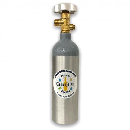 Cilindro de CO2 600 gramas de Alumínio para Cerveja, Chopp