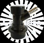 Conector Ball Lock para liquido, espigao 1/4