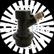 Conector Ball Lock para liquido, rosca 7/16