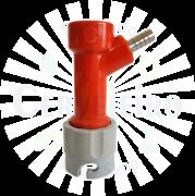 Conector Pin Lock para gas, espigao 1/4