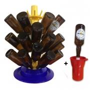 Escorredor prático fixo para 80 garrafas + Lavadora Spin