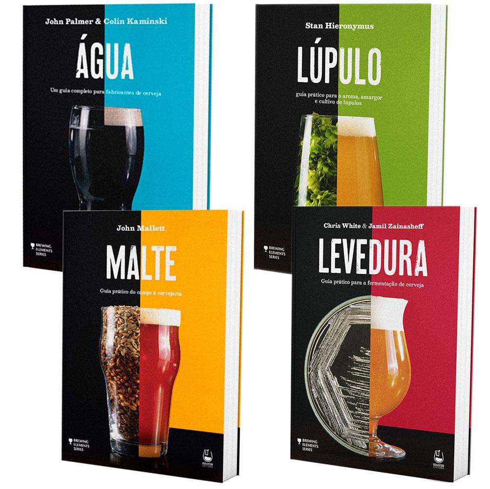 Coleção Livros de Cerveja - Água, Malte, Lúpulo, Levedura