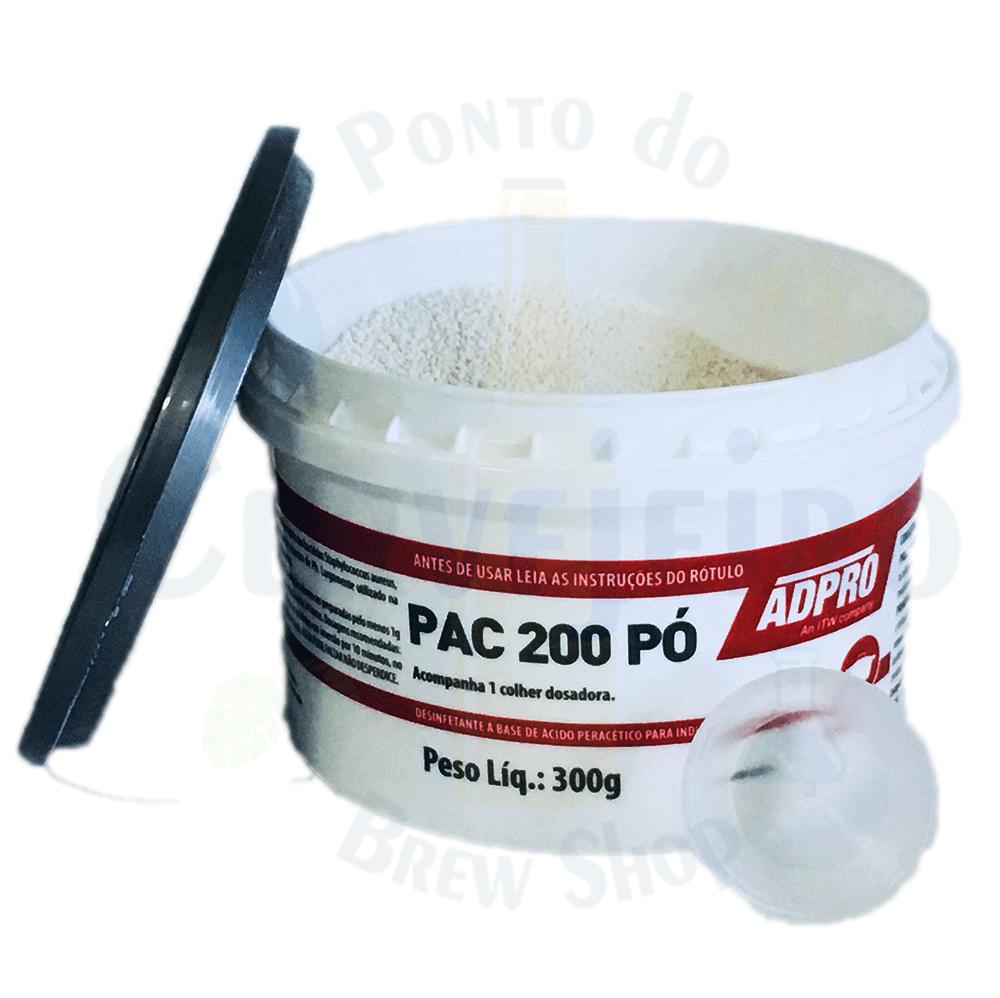 Desinfetante Ácido Peracético PAC 200 Pó