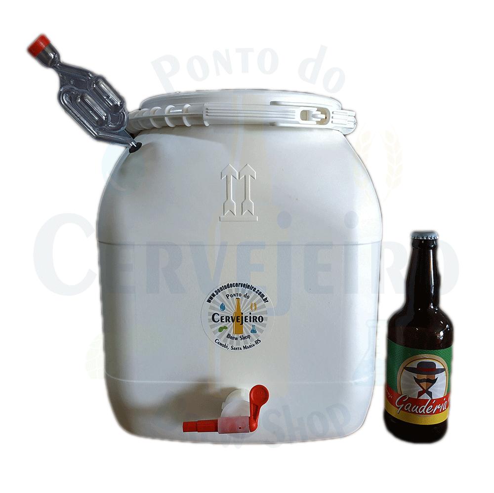 Fermentador/maturador Bombona 30 Litros Completa C/ Torneira Branco