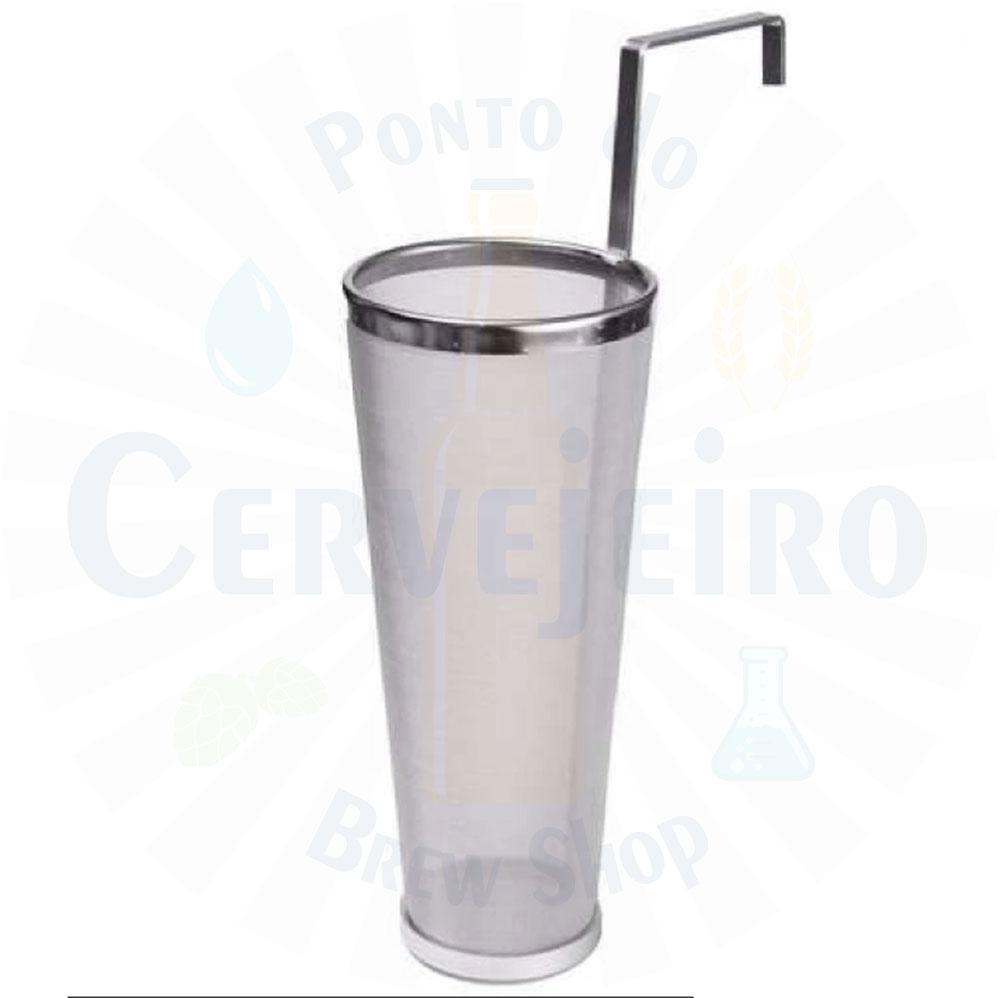 Filtro Cônico para lúpulo com alça, 300 micra