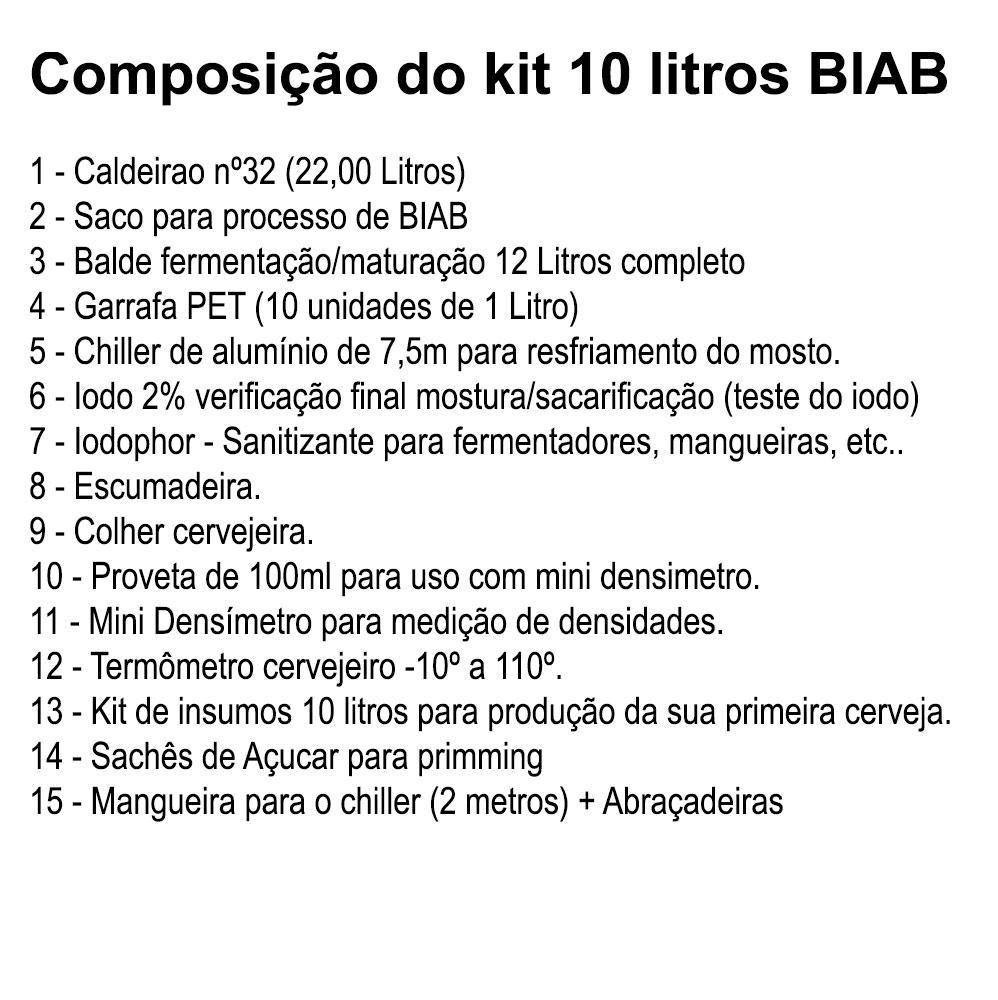 Kit para Produção de Cerveja 10 Litros BIAB Pet