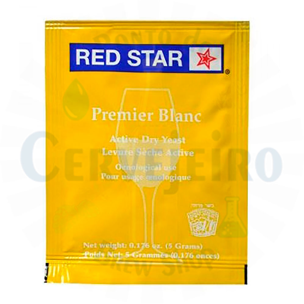 Levedura de Vinho Red Star Premier Blanc 5g