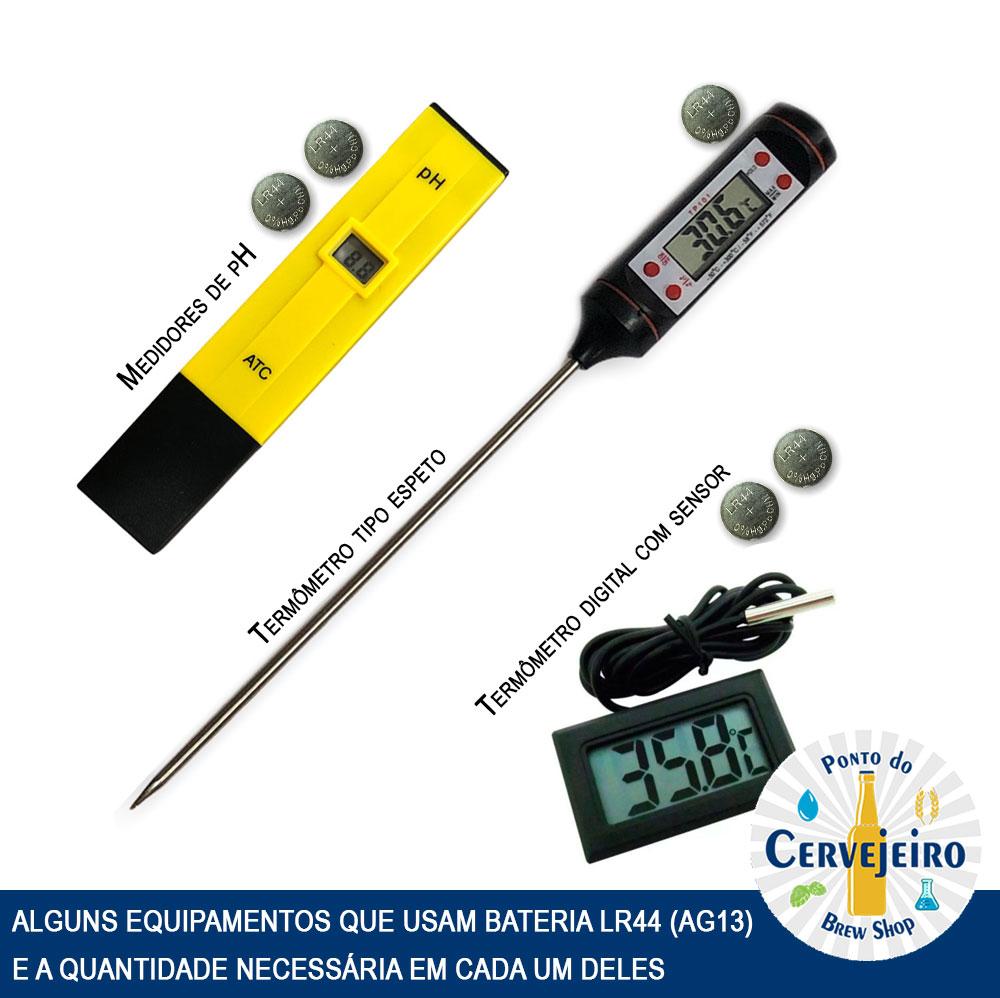 Pilha (bateria) Alcalina Elgin LR44 A76 AG13 - 10 Un