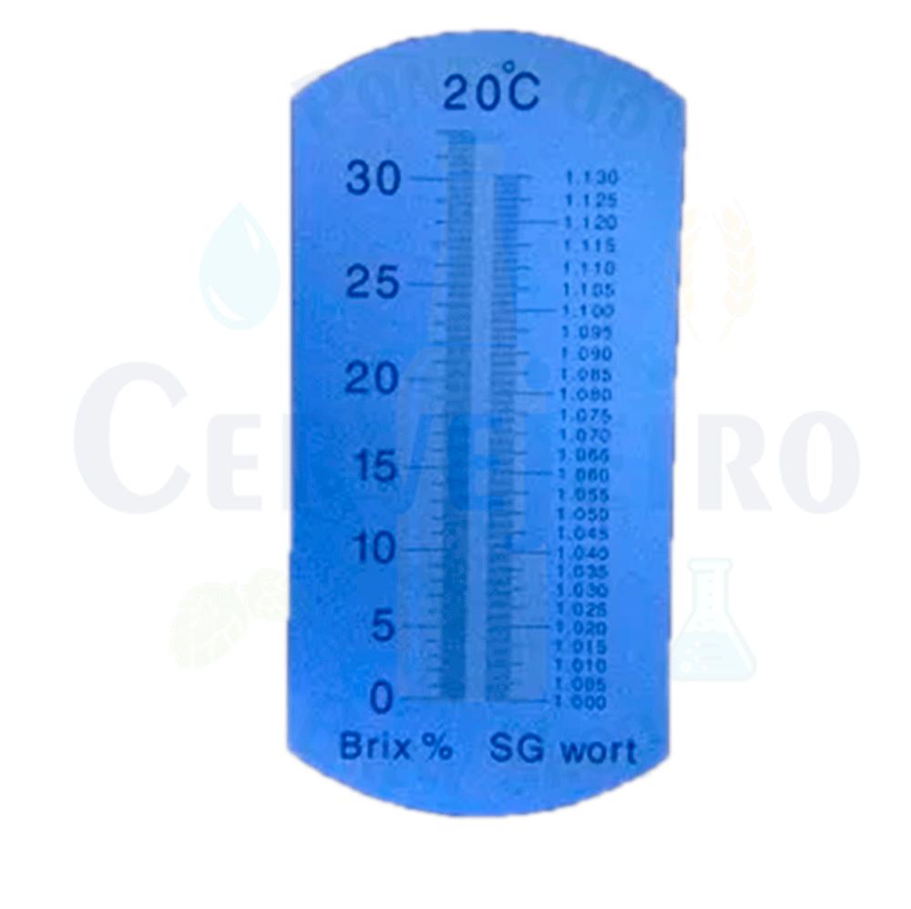 Refratômetro Cervejeiro Unidades: BRIX 0-32% SG 1.000-1.130