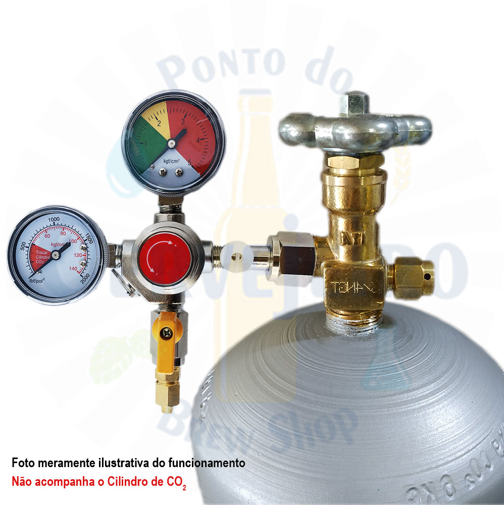 Regulador de Pressão para CO2 - 1 via