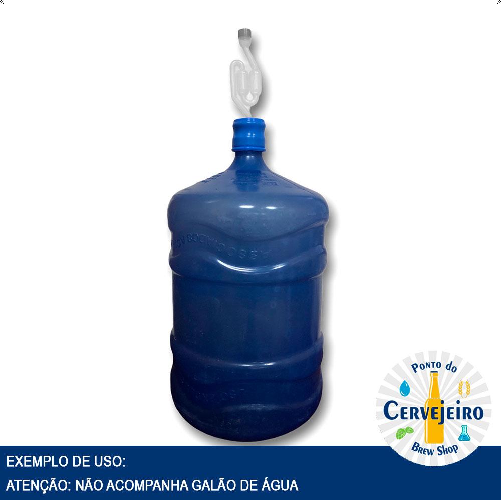 Tampa Rolha Silicone + Airlock para Galão Água Mineral 20L