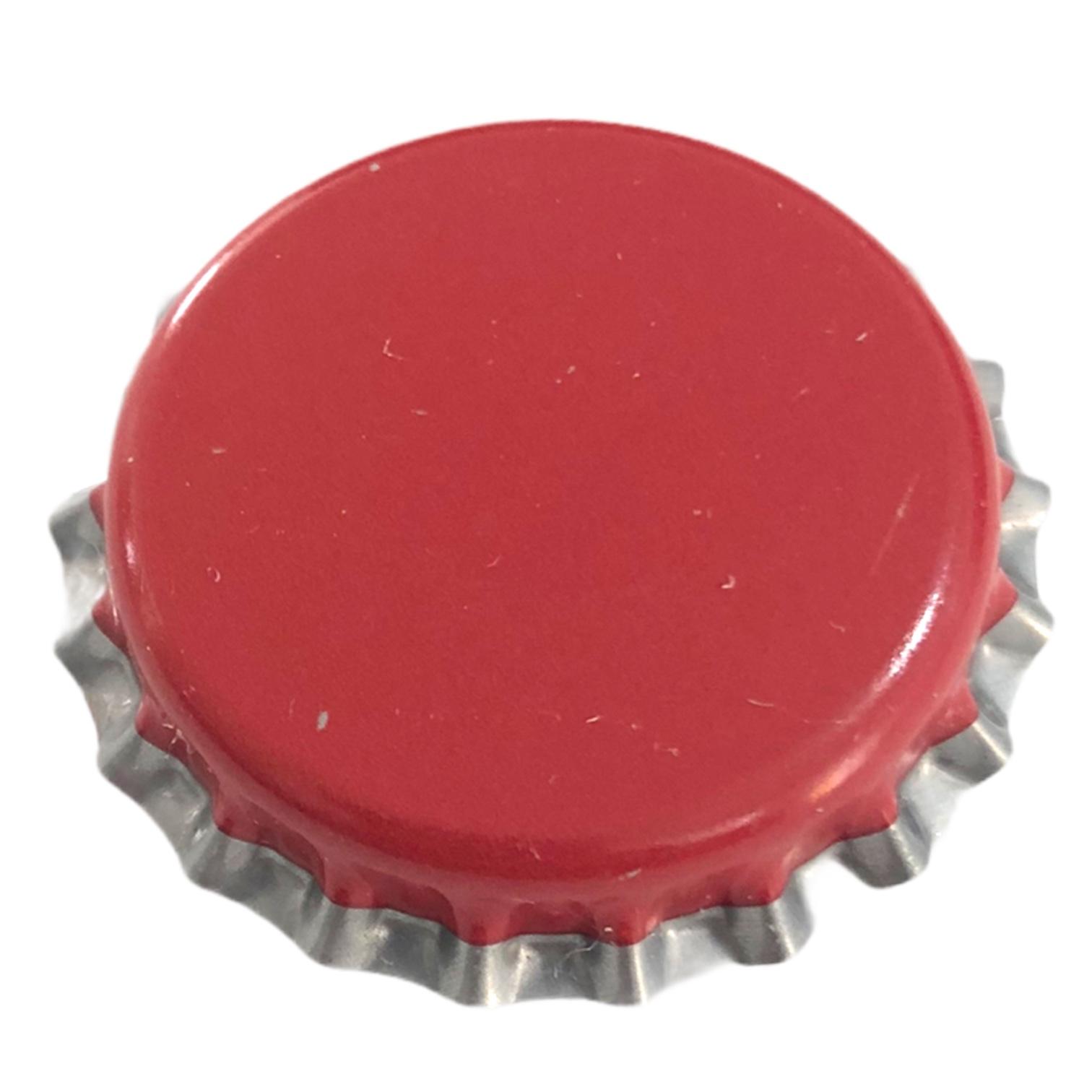 Tampinha Vermelha Borda Prata PRY OFF - Pac c/100