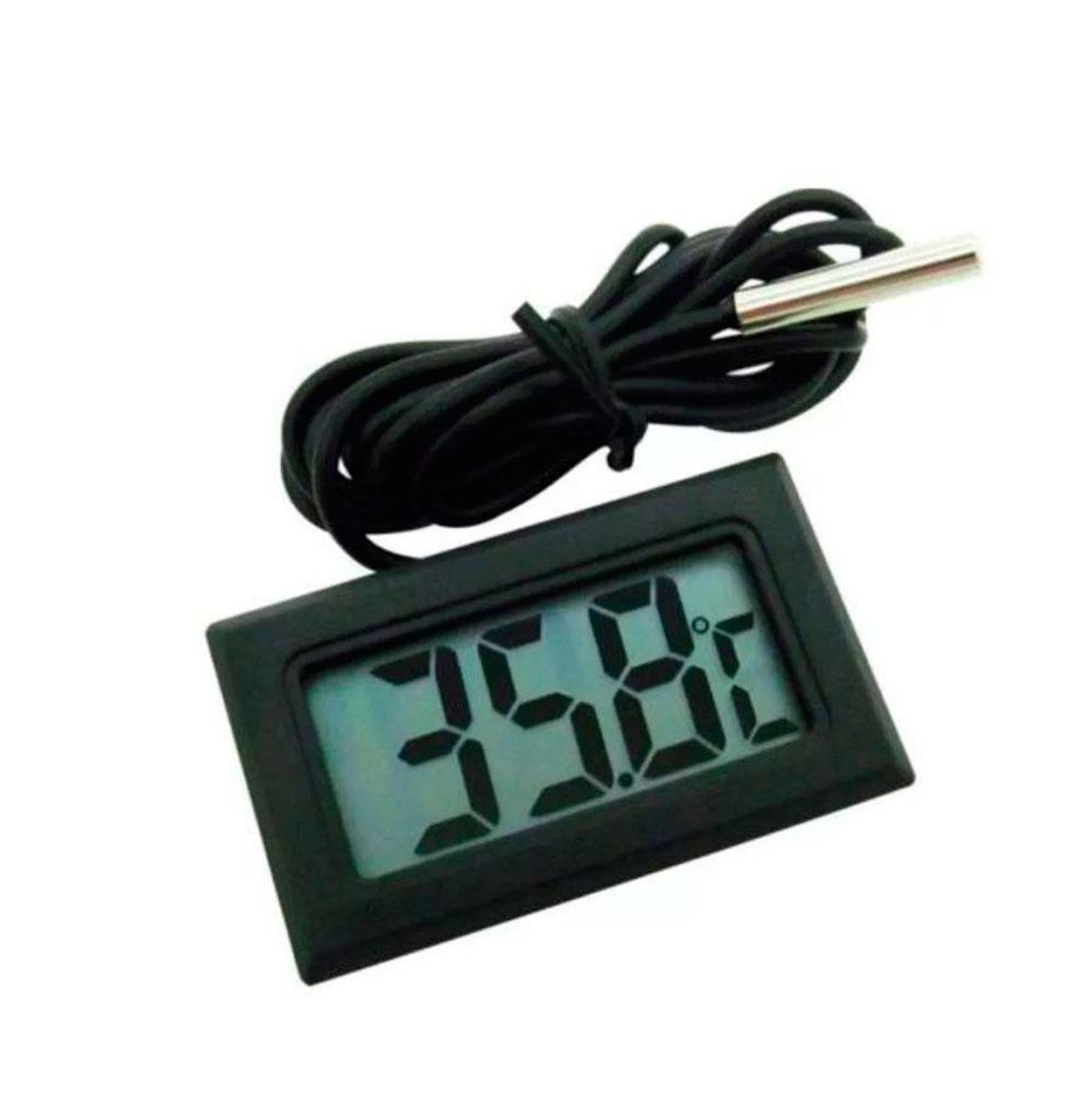 Termometro Digital com Sensor Preto