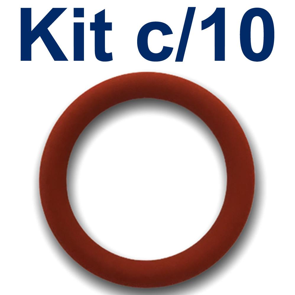 Vedacao (oring) 1/2 Pol. de Silicone Kit com 10