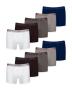 Kit com 10 Cuecas Boxer de Cotton
