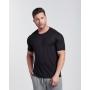 T-shirt Slim de Viscose Preta