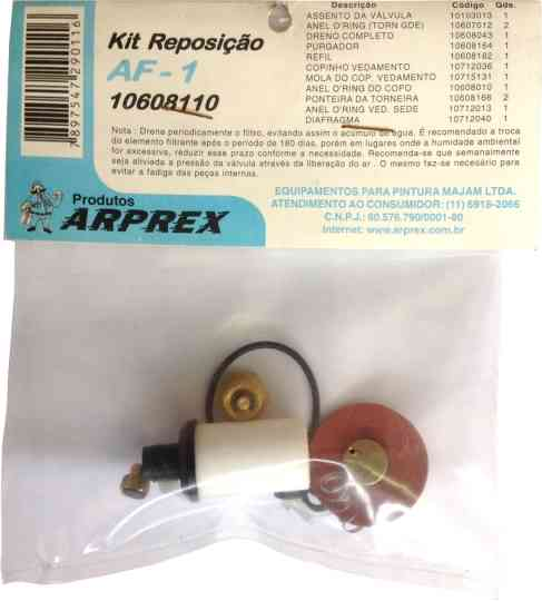 Kit de Reposição Filtro AF1 - ARPREX - Sem Carvão Ativado
