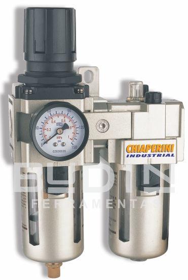 Filtro Regulador e Lubrificador - 1/4´ - Chiaperini