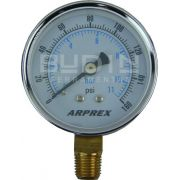Manômetro Vertical para Ar Comprimido 60MM ( 0 -160PSI ) Arprex