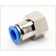 Conexão Reta Push-In Mang. 8mm Rosca 1/4´ F - Pneumática  TPCF8-G02