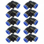 Conexão Pneumática Cotovelo Emenda Tudo 4mm x 4mm -  10 unid.