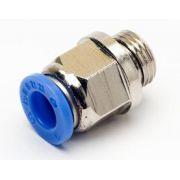 Conexão Reta Push-In Mang. 12 mm Rosca 1/4´ M - Pneumática TPC12-G02