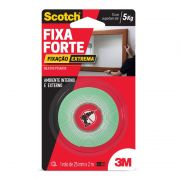 Fita Dupla Face Fixa Forte 12mm x 2 mts Scotch 3m