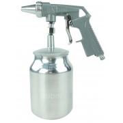 Pistola de Jato de Areia com Caneca 1 litro Alumínio Profissional Pneumática