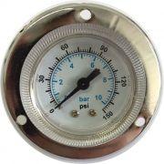 Manômetro Horizontal de Painel 0 a 150 psi Diâmetro 40mm  Rosca 1/8