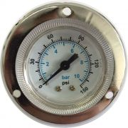 Manômetro Horizontal de Painel 0 a 150 psi Diâmetro 63mm  Rosca 1/4