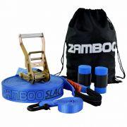Slackline 10 Metros - Azul + Protetor + Bolsa + Backup