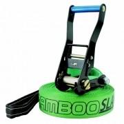 Slackline Zamboo Basic Black 30 Metros - Verde