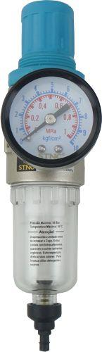 Filtro de Ar com Regulador de Pressão 1/4´ Pneumático