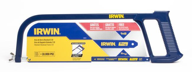 Arco de Serra Standard I-10  - Irwin - Grátis Lâmina Bimetálica Dupla Irwin