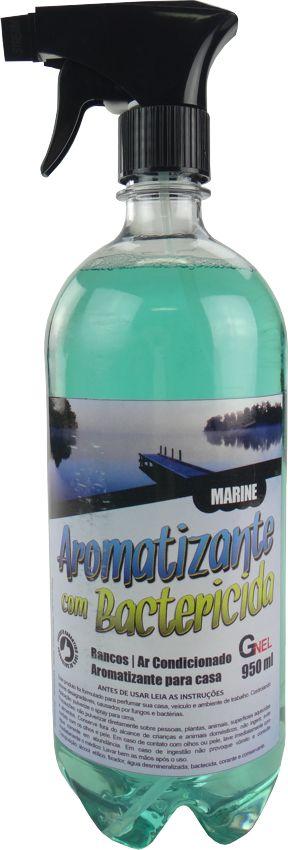 Aromatizante Cheirinho Carros, Residências, Escritórios com Bactericida - 950ml - Fragrância Marine