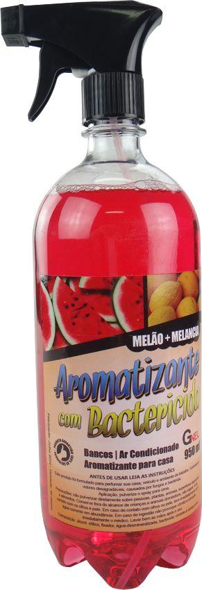 Aromatizante Cheirinho Carros, Residências, Escritórios com Bactericida - 950ml - Fragrância Melão + Melancia