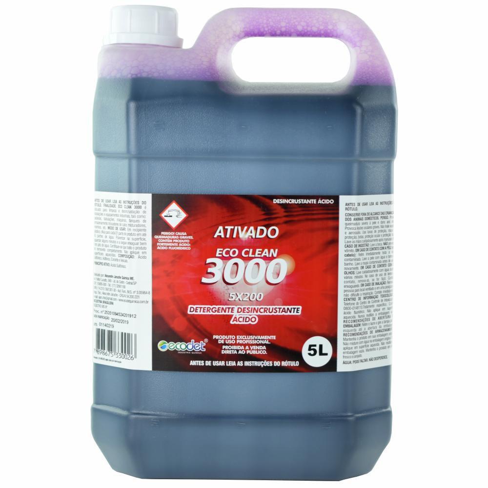 Ativado Eco Clean 3000 Detergente Desincrustante Lava Jato