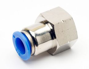 Conexão Reta Push-In Mang. 12 mm Rosca 1/4´ F - Pneumática TPCF12-G02