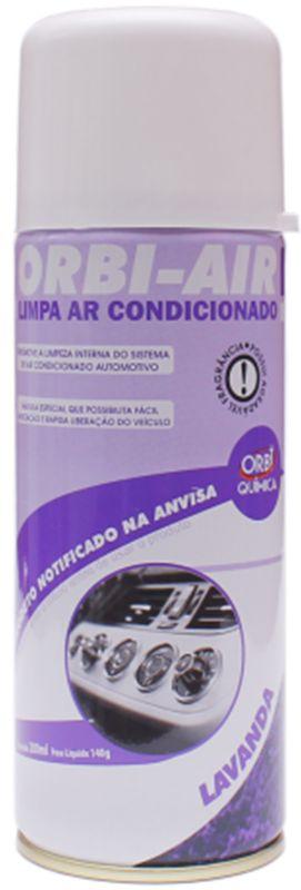Limpa Ar Condicionado Automotivo Spray Higienização - Lavanda Orbi-air 200ml