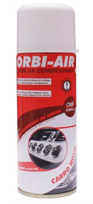 Limpa Ar Condicionado Automotivo Spray Higienização - Carro Novo   Orbi-air 200ml