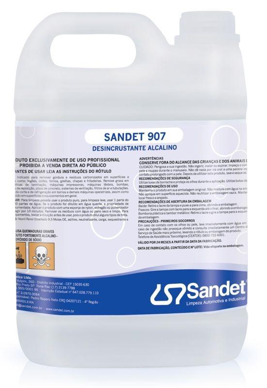 Sandet 907 - Detergente Removedor de Gorduras e Resíduos Carbonizados  - 5 lts