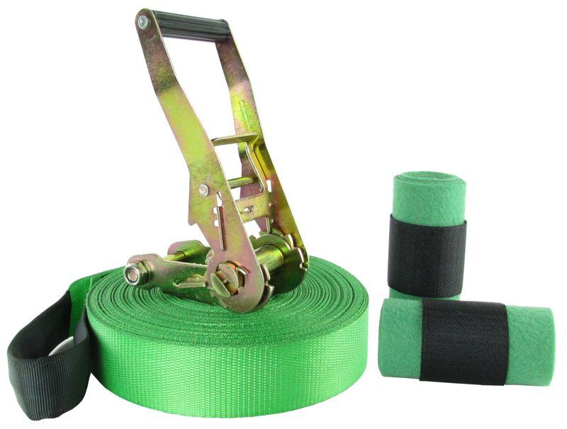 Slackline 10 Metros - Verde + Protetor