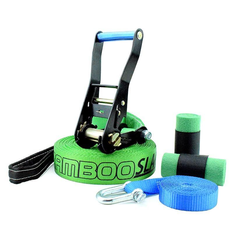 Slackline Zamboo Pro Black 15 Metros - Verde