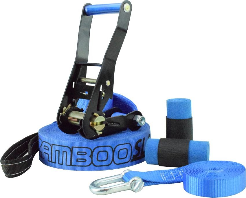Slackline Zamboo Pro Black 20 Metros - Azul