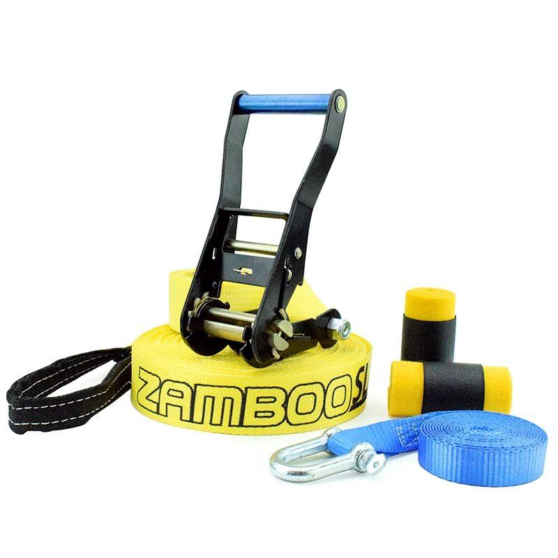 Slackline Zamboo Pro Black 20 Metros - Amarelo